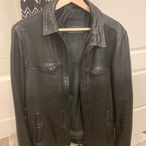 Allsaints Leather Jacket $320 M lightly used